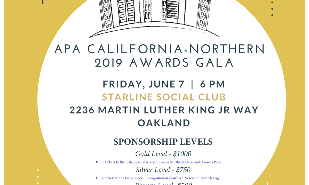 APA Northern California – Awards Gala Sponsorship Request