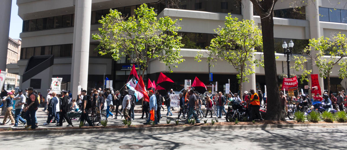 May Day ILWU protest on Broadway in Oakland