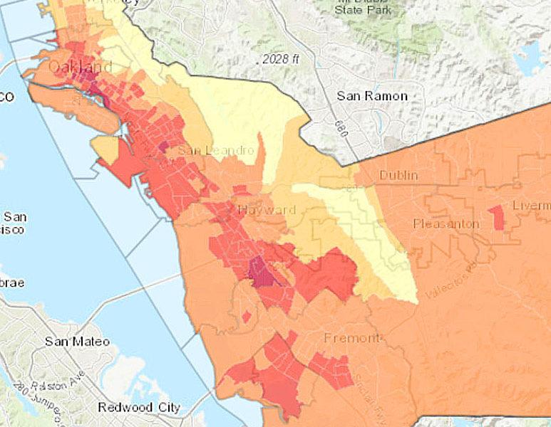 Alameda County Heat Vulnerability Map